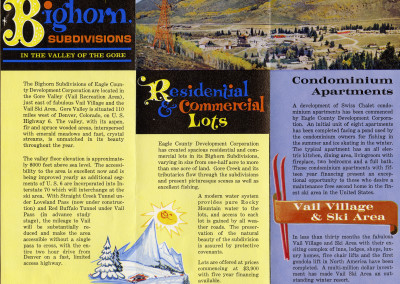 Early Sales Brochure Vail